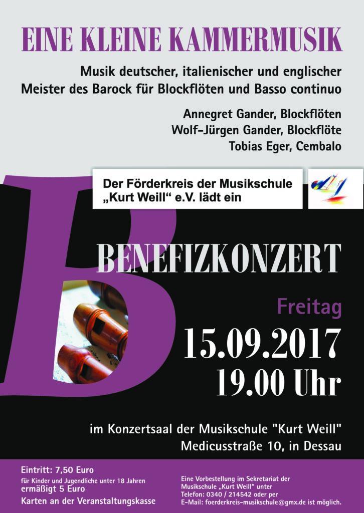 Plakat Benefizkonzert 2017